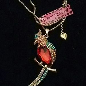 Betsy Johnson Parrot Necklace